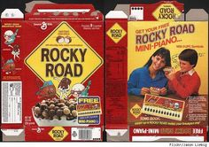 old cereal boxes | Rocky Road cereal - with free mini-piano... | Vintage Cereal Boxes
