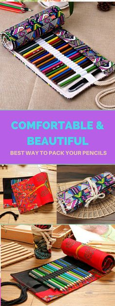 Comfortable and beautiful way to pack your pencils