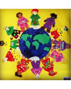 Remembrance day craft/bulletin board idea: Peace Around the World
