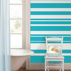 Rosenberry Rooms is offering a 10% discount on your purchase of $350 or more.  Share the news and take advantage of the savings! Stripe Wall Decals - Choose Your Color #rosenberryrooms