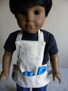 18 inch doll Tool Apron by DollClothesbyBella on Etsy American Girl Accessories, Doll Accessories, Ag Dolls, Girl Dolls, Tool Apron, 18 Inch Boy Doll, Boy Doll Clothes, Madame Alexander, American Girls