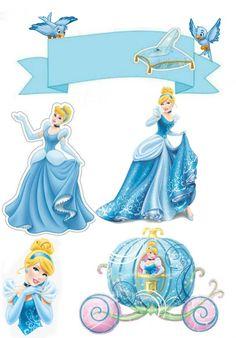 Cinderella Theme, Cinderella Birthday, Diy Cake Topper, Birthday Cake Toppers, Imprimibles Paw Patrol, Lol Doll Cake, Paris Birthday Parties, Disney Frozen Elsa, Disney Beauty And The Beast