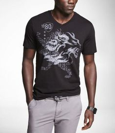 GRAPHIC TEE - LEON REPEAT at Express