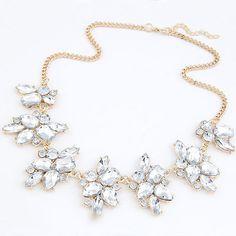 New Statement Choker Fashion Charms Collar Vintage Crystal Gem Flower Rhinestone Necklaces&Pendants Women Fine Jewelry A520