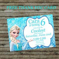 Frozen Invitation Birthday Invitation Disney Invitation Elsa Birthday Party