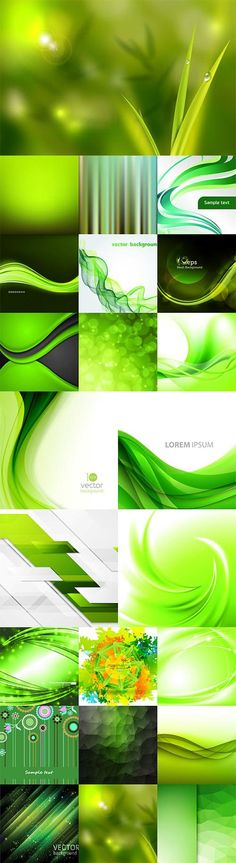 Зеленые абстрактные векторные фоны