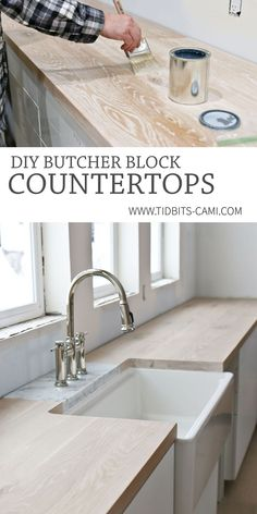 DIY Butcher Block Countertops | Oh, yes you can! - Tidbits