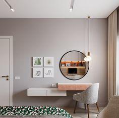Apartment in Kazan, Russia.What: Apartment Corner Dressing Table, Dressing Table Design, Kitchen Room Design, Bathroom Interior Design, Condominium Interior, Pinterest Home Decor Ideas, Decoration Bedroom, Stylish Bedroom, Luxurious Bedrooms