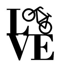 Bicycle Love Decal/I Love Bicycling/Love by LundtLetteringDesign