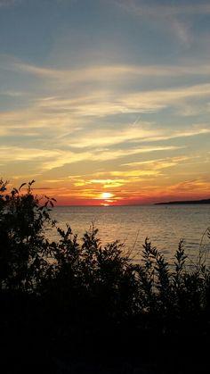 Sunset Petoskey Bay, Michigan