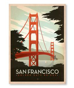Another great find on #zulily! 'Golden Gate Bridge' Wall Art #zulilyfinds