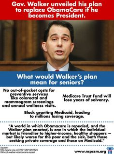 Gov. Walker recently released his plan to replace #Obamacare if he were to become President and it's bad for seniors.