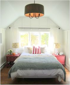 Perfect room. PLUS she made it out of an old garage, and spent only $299 on decorating, WHAT?! From Proverbs 31 Girl, a great blog from a christian mother and wife.
