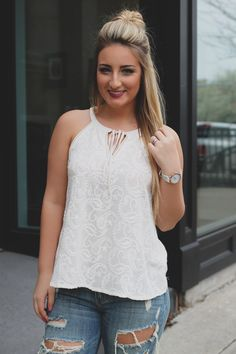 Unscripted Top - Ivory
