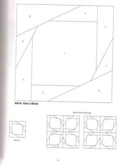 another paper piecing idea Paper Pieced Quilt Patterns, Barn Quilt Patterns, Pattern Paper, Strip Quilts, Panel Quilts, Quilt Blocks, Paper Piercing Patterns, Painted Barn Quilts, Japanese Quilts