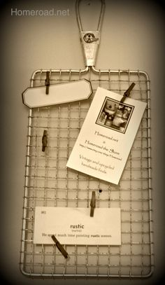 Vintage Grater Memo Board by Homeroad on Etsy, $15.00