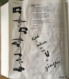 Bible journaling Psalm 150