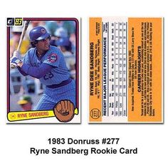 1983 Donruss Ryne Sandberg Baseball Rookie Card by Donruss. $9.75. 1983 Sandberg Donruss