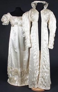 redingoat early 19th fiqured silk bonhams