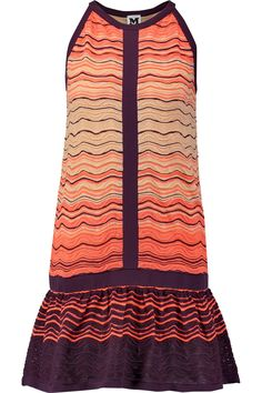 Shop on-sale M Missoni Crochet-knit cotton-blend  mini dress. Browse other discount designer Dresses & more on The Most Fashionable Fashion Outlet, THE OUTNET.COM