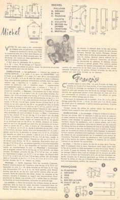 PAR AMOUR DES POUPEES :: M&T 1958-10 robe en lainage pour Françoise (couture)