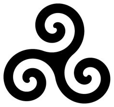 Triskele-Symbol interpretation - personal growth, human development, spiritual expansion