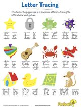 Kids practice writing uppercase and lowercase letters in this #earlylearning alphabet #printable. #prek