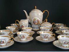 Juego de café de porcelana de Limoges