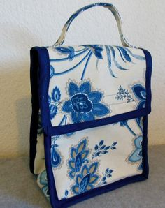 Insulated Lunch Bag  Blue Floral Paisley by BonniesSewCrazy, $15.00  https://www.etsy.com/listing/161266900/insulated-lunch-bag-blue-floral-paisley?ref=shop_home_feat