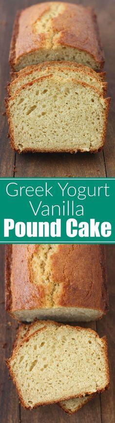 Greek Yogurt Vanilla Pound Cake - Tastes Better From Scratch