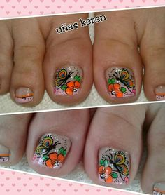 Butterfly Makeup, Cute Pedicures, Summer Toe Nails, Nail Effects, Toe Nail Designs, Toe Nail Art, Manicure, Finger, Pretty Pedicures