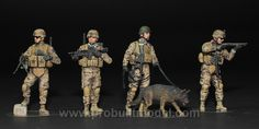 US Infantrymen Corden and Search Master Box 35154 1/35 Pro Built Model