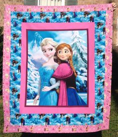 Frozen Elsa and Anna Quilt by 2Minutes2Myself on Etsy