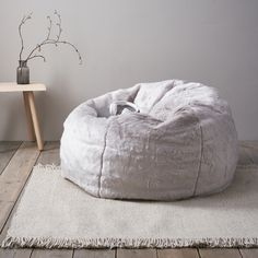 Supreme Faux Fur Bean Bag   Beanbags   Home Accessories   Home   The White  Company 671cdcc8de