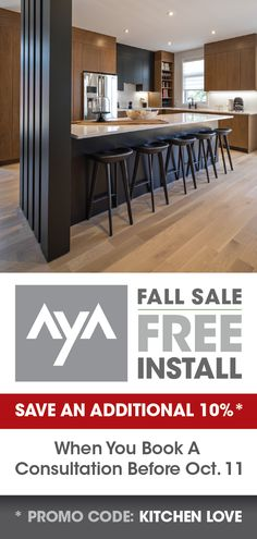 Don't miss out on these huge savings! Condo Kitchen, Kitchen Reno, Living Room Kitchen, Home Decor Kitchen, Kitchen Flooring, Kitchen Remodel, Best Kitchen Designs, Modern Kitchen Design, Interior Design Kitchen