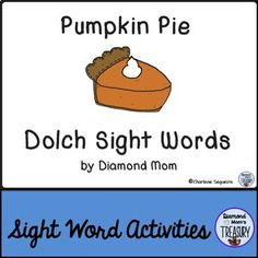 This set includes all 220 Dolch words in a theme that is perfect for fall. Pumpkin Pie Sight Word Memory GameThe game is played as a typical memory game. You will need to make 2 copies of each sheet in order to do the matching.Pumpkin Pie Sight Word Flash CardsUsing the same templates, practice the sight words in pairs or in sets.