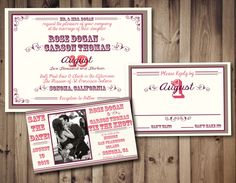Printable DIY Country Wedding Invitations including Save the Date, and RSVP Card. $19.00, via Etsy.