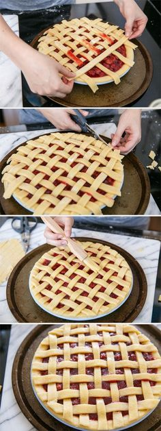 How-to Make a Lattice Top Pie Crust from www.loveandoliveoil.com