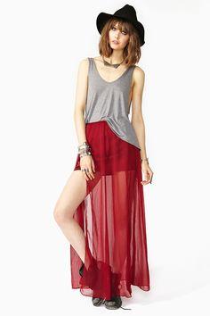 Split Up Maxi Skirt