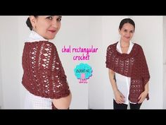 En este tutorial te comparto uno de los proyectos que más me piden. Tejeremos juntos un chal rectangular a crochet muy fácil. ♥ Mi tienda de materiales en Co... Crochet Shawl, Knit Crochet, Amigurumi Tutorial, Shawls And Wraps, Free Pattern, Knitting, My Style, Pink, Etsy