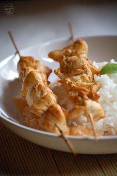 Kuchnia Bazylii: Szaszłyki z kurczaka w marynacie z sosu sojowego