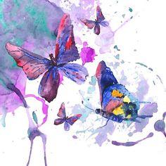 Fototapeta Pixerstick Abstrakcyjna Akwarele tła z motyli 365 dni na zwrot ✓ Miliony wzorów ✓ 100% ekologiczny druk ✓ Profesjonalna obsługa i doradztwo ✓ Skonfiguruj online!