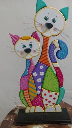 2x4 Crafts, Clay Crafts, Arts And Crafts, Styrofoam Art, Wood Craft Patterns, Quilling Animals, Mosaic Animals, Clay Art Projects, Cat Quilt