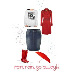 A fashion look from February 2015 featuring Hunter coats, True Religion skirts and Hunter boots. Browse and shop related looks.