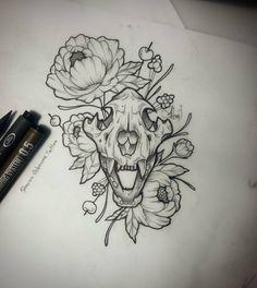 Sketch time..  #tattoo #tatuaje #sketchtattoo #skull #skulltattoo #peonies #peonietattoo #peoniatattoo #tattooflower #femaletattoo #girltattoo #cutetattoo #sharonosbournetatuadora #sharonosbournetattoo #tatuadora #tattooartist #lineworktattoo #calaveratattoo