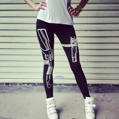 Hot Machine Gun/Work Out Print Black Soft Cotton Leggings  Pants Woman Lady-in Leggings from Women's Clothing & Accessories on Aliexpress.com | Alibaba Group