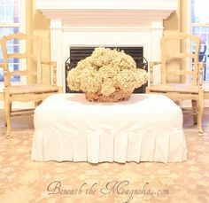 Beneath the Magnolias: How to make a Slipcover for an Ottoman