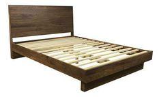 Room & Board Walnut Queen Bed Frame on Chairish.com