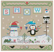 The Floss Box | Snow Party Cross Stitch