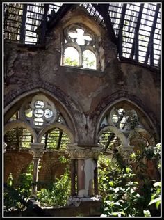 The ruins of the Anglican mortuary chapel in Philips Park Cemetery, Manchester, England.  http://www.parksandgardens.org/places-and-people/site/2617/description